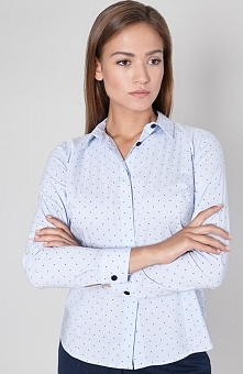 Click Fashion Nuevo koszula niebieska Elegancka błękitna koszula, ozdobiona c...