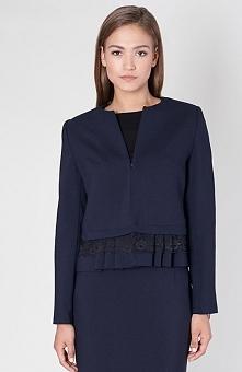 Click Fashion George żakiet Elegancka marynarka damska, wykonana z gładkiego materiału, prosty pudełkowy fason
