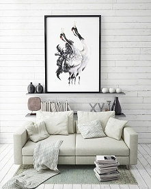 Żurawie zwyczajne - plakat,...