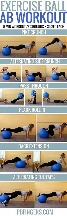 trening brzucha z piłką