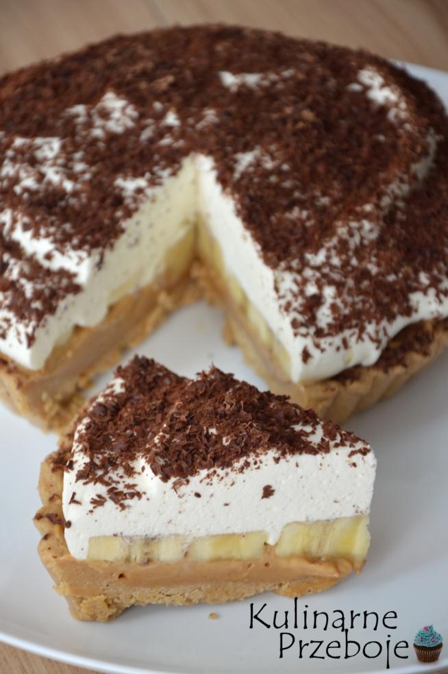 bananowe ciasto bez pieczenia z masą kajmakową