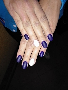 Semilac Blue Ink NeoNail Grench white Semilac Top totall Mat