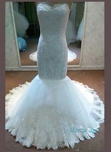 koronkowa suknia ślubna syrenka