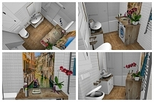 Projekt małej łazienki w bloku. Zapraszam.