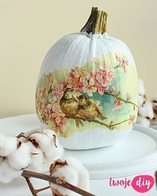 Dynia decoupage DIY, pumpkin decoupage