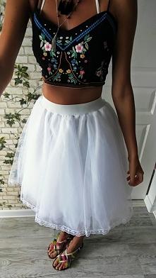 Spódnica tiulowa biała
