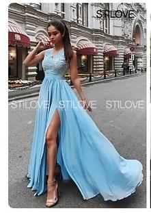 błękitna suknia