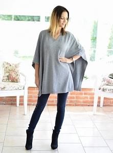 Sweter/ponczo BIAGIO szare. Ottanta - sklep online