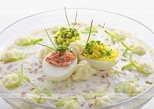 Sałatka z patisonów, jajek i rzodkiewek