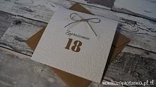 Rustykalne zaproszenia na 18
