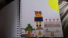 minecraft. rysunek mojej 7-letniej siostrzenicy
