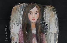 Sprzedam drewnianego Anioła,nowy, wys. 52cm
