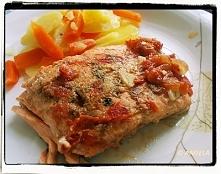 Łosoś smażony w pomidorach - Salmon in Tomato Sauce - Salmone in salsa di pom...