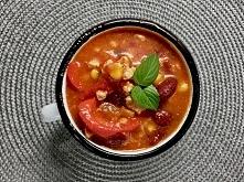Zupa meksykanska - rozgrzewająca z chrupka kukurydzą delikatną fasolą i prapr...