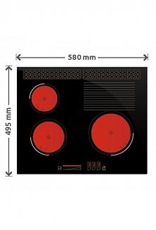 Płyta SOLGAZ 3+1 bez palników do kuchni pod zabudowę