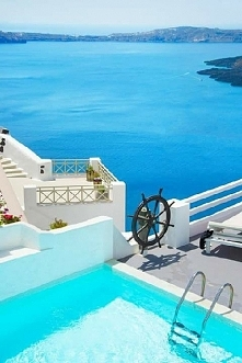 Santorini w Grecji.
