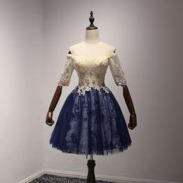 9b3debd5ad Piękne Szampan Tusz Niebieski Homecoming Sukienki Na Studniówke.. na ...