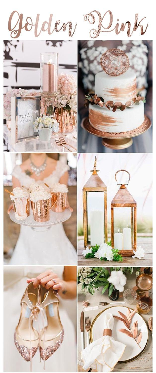 Golden Pink Jako Kolor Przewodni W Dniu ślubu Na ślubne Inspiracje