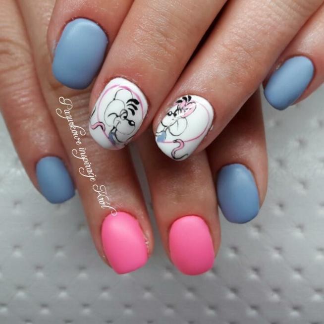 #Diddl #nails #paznokcie