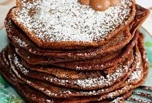Najlepsze pancakes czekoladowe (z czekoladą)  jajka 2 sztuki mleko 250 ml ole...