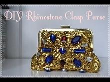 DIY Rhinestone Clasp Clutch Purse