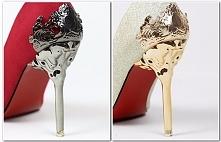 PRZECUDOWNE, oryginalne damskie szpilki ze zdobionym obcasem. Wiele kolorów do wyboru! Kliknij w zdjęcie i zobacz gdzie kupić!