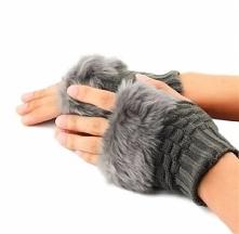 Piękne, cieplutkie rękawiczki bez palców. Kliknij w zdjęcie i zobacz gdzie ku...