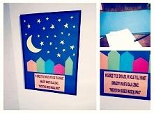 """obrazek na ścianę do pokoju dziecięcego ;) """"W górze tyle gwiazd, w dole tyle miast. Gwiazdy miastu dają znać: WSZYSTKIE DZIECI MUSZĄ SPAĆ"""" #inspirowane"""