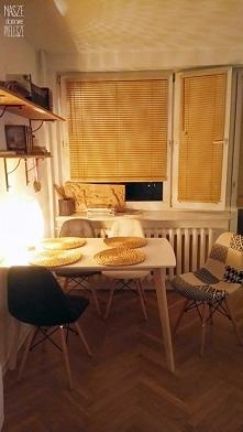 Żaluzje drewniane w kolorze CHAŁWA u Pani Kasi :)  Jeśli szukasz takich żaluzji znajdziesz je na: naszedomowepielesze.pl FB: Nasze Domowe Pielesze Instagram: nasze_domowe_pielesze