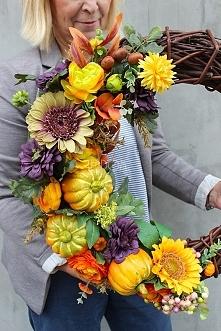 dekoracje z dyniami z pracowni florystycznej tendom.pl