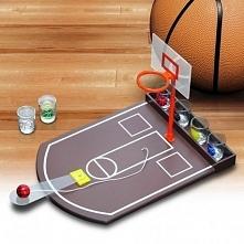 Imprezowa koszykówka Miniaturowe boisko do koszykówki z alkoholowym urozmaice...