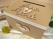 pudełko na koperty, zdobione, więcej na jotstudio.pl