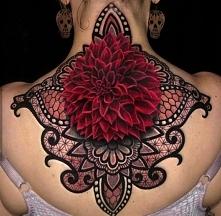 Dahlia ornamental tattoo