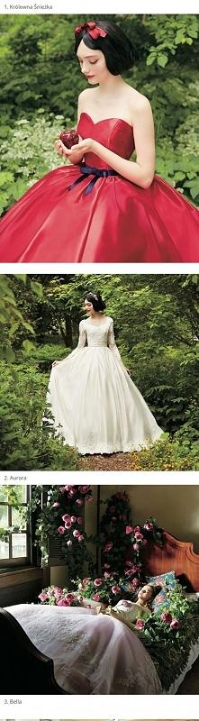 Suknie ślubne inspirowane księżniczkami disneya