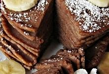 Kakaowe placuszki z bananem...