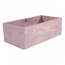 Drewniana skrzynka, kolor fioletowo pastelowy (BOX 31,5/17/11)