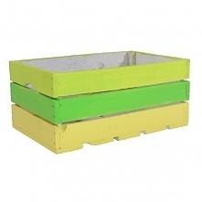 Drewniana kolorowa skrzynka (BOX 40/26/18)