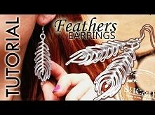 diy TUTORIAL Kolczyki boho pióra , earrings feathers , wire wrapped