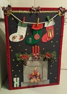 Kartka świąteczna dla mojej rodzinki. Wszystko wykonane samodzielnie.