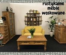 drewniane meble woskowane d...