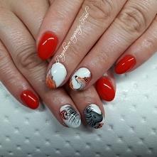#Jesień #lisek #krecik # nails # paznokcie