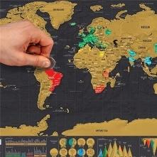 Mapa- zdrapka- idealny prezent dla miłośników podróży :)