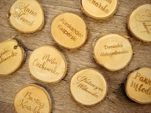 drewniana winietka weselna,...