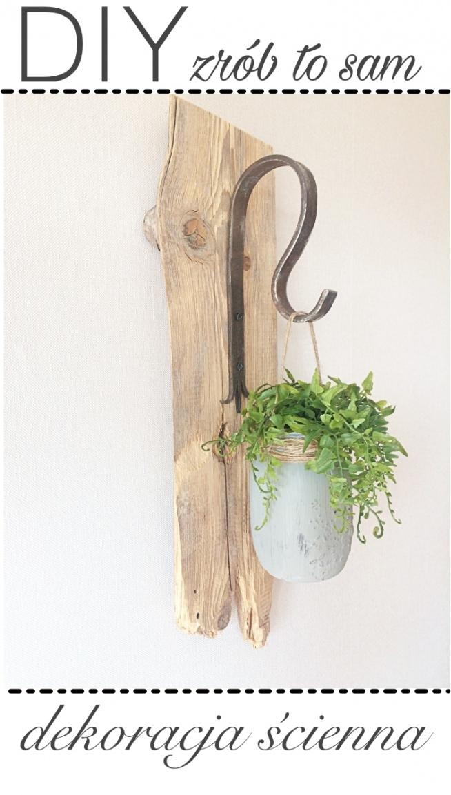 DIY - dekoracja z deski i słoika