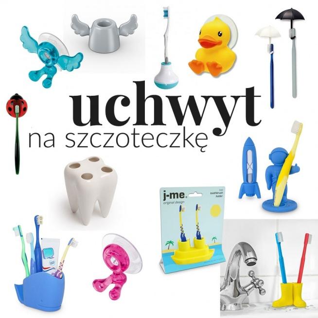 """""""Wesołe i kolorowe dodatki do łazienki"""" - wpis z inspiracjami i produktami na blogu Mocem - wieszaki i uchwyty na szczoteczkę do zębów - biedronka, kaczuszka, parasolki, kosmonauta, wieloryb, ząbek. statek, kalosze"""
