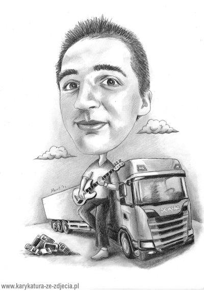 Pomysł Na Prezent Dla Kierowcy Tira Karykatura Na Pomysł