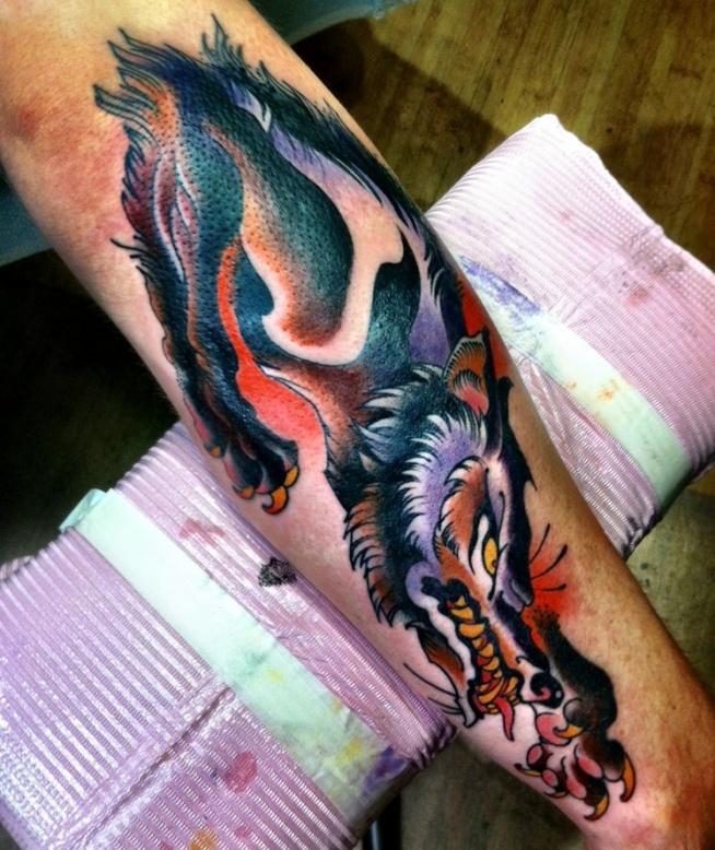 Groźne Zęby Wilka Na Ciekawe Tatuaże Zszywkapl