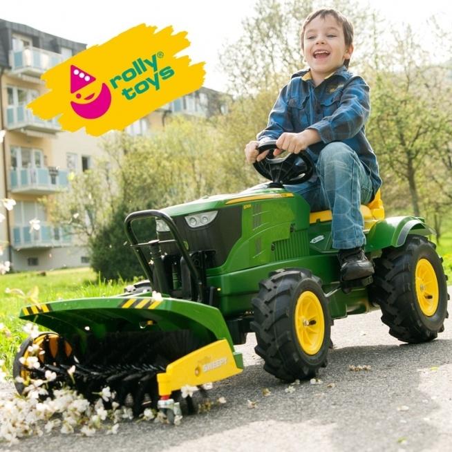 Rolly Toys rollyFarmtrac Traktor na pedały John Deere Łyżka. Jeden z najlepszych traktorków dla dzieci dostępnych na rynku! Traktor Rolly Toys na licencji John Deere spełnienie marzeń niejednego małego traktorzysty. Starannie wykonany, z dbałością o najmniejszy szczegół !!! #zabawki #ogród #jesień #dladzieci #zabawy #traktor #johndeere #napedaly #lyzka #rollytoys #brykaczepl