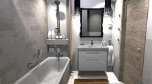 Łazienka z delikatną mozaiką