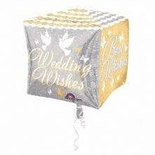 Piątek, piąteczek, piątunio:) Uwielbiamy:)  Foliowe balony, ślubne życzenia, 38x38 cm w kształcie sześcianu z czterostronnym nadrukiem - z helem lub bez.  Z dwóch stron z napise...